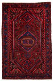 Hamadan Matta 151X231 Äkta Orientalisk Handknuten Mörkröd/Röd (Ull, Persien/Iran)