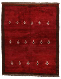 Gabbeh Persisk Matta 155X190 Äkta Modern Handknuten Mörkröd/Röd (Ull, Persien/Iran)