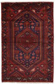Zanjan Matta 160X240 Äkta Orientalisk Handknuten Mörkröd/Mörkbrun (Ull, Persien/Iran)