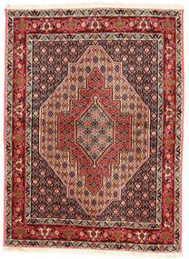 Senneh Matta 117X160 Äkta Orientalisk Handknuten Mörkbrun/Ljusbrun (Ull, Persien/Iran)