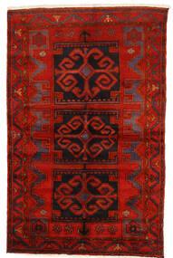 Zanjan Matta 145X228 Äkta Orientalisk Handknuten Mörkröd/Roströd/Mörkbrun (Ull, Persien/Iran)