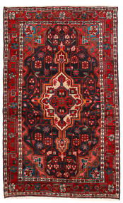 Hamadan Matta 115X187 Äkta Orientalisk Handknuten Mörkröd/Svart (Ull, Persien/Iran)