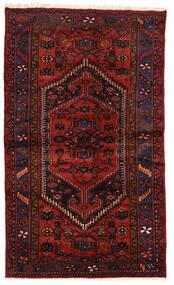 Zanjan Matta 124X207 Äkta Orientalisk Handknuten Mörkröd/Roströd (Ull, Persien/Iran)