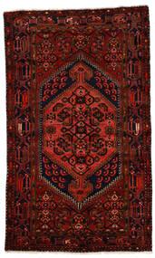 Zanjan Matta 124X211 Äkta Orientalisk Handknuten Mörkröd (Ull, Persien/Iran)