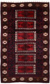 Lori Matta 160X283 Äkta Orientalisk Handknuten Mörkröd (Ull, Persien/Iran)