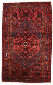 Zanjan Matta 147X240 Äkta Orientalisk Handknuten Mörkröd/Svart (Ull, Persien/Iran)