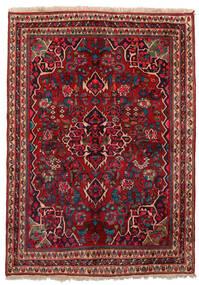Bidjar Matta 155X209 Äkta Orientalisk Handknuten Mörkröd/Mörkbrun (Ull, Persien/Iran)