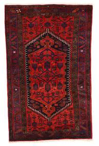 Zanjan Matta 117X187 Äkta Orientalisk Handknuten Mörkröd/Roströd (Ull, Persien/Iran)