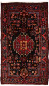 Nahavand Matta 155X270 Äkta Orientalisk Handknuten Mörkröd (Ull, Persien/Iran)