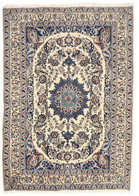 Nain Matta 162X228 Äkta Orientalisk Handknuten Ljusgrå/Beige (Ull, Persien/Iran)