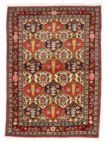 Bakhtiar Collectible Matta 106X147 Äkta Orientalisk Handknuten Mörkbrun/Mörkröd (Ull, Persien/Iran)