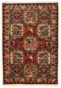 Bakhtiar Collectible Matta 106X152 Äkta Orientalisk Handknuten Svart/Mörkröd (Ull, Persien/Iran)