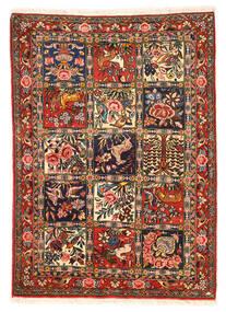 Bakhtiar Collectible Matta 110X154 Äkta Orientalisk Handknuten Mörkbrun/Mörkröd (Ull, Persien/Iran)