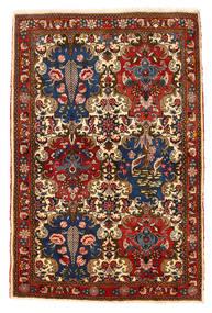Bakhtiar Collectible Matta 111X166 Äkta Orientalisk Handknuten Mörkröd/Mörkbrun (Ull, Persien/Iran)