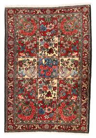 Bakhtiar Collectible Matta 106X154 Äkta Orientalisk Handknuten Mörkbrun/Mörkröd (Ull, Persien/Iran)