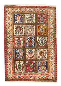 Bakhtiar Collectible Matta 105X150 Äkta Orientalisk Handknuten Röd/Mörkgrå (Ull, Persien/Iran)