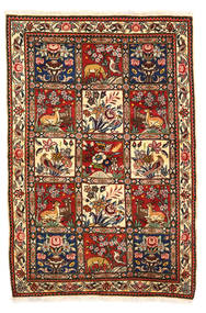 Bakhtiar Collectible Matta 115X170 Äkta Orientalisk Handknuten Mörkbrun/Vit/Cremefärgad (Ull, Persien/Iran)