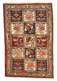 Bakhtiar Collectible Matta 106X164 Äkta Orientalisk Handknuten Mörkbrun/Mörkröd (Ull, Persien/Iran)