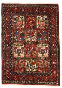 Bakhtiar Collectible Matta 106X150 Äkta Orientalisk Handknuten Mörkbrun/Mörkröd (Ull, Persien/Iran)