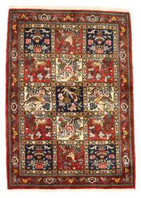 Bakhtiar Collectible Matta 111X156 Äkta Orientalisk Handknuten Mörkröd/Mörkbrun (Ull, Persien/Iran)