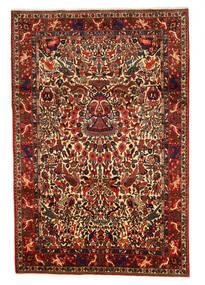 Bakhtiar Collectible Matta 208X311 Äkta Orientalisk Handknuten Mörkröd/Mörkbrun (Ull, Persien/Iran)