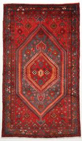Zanjan Matta 128X220 Äkta Orientalisk Handknuten Mörkröd/Roströd (Ull, Persien/Iran)