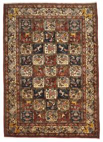 Bakhtiar Collectible Matta 221X310 Äkta Orientalisk Handknuten Mörkbrun/Ljusbrun (Ull, Persien/Iran)