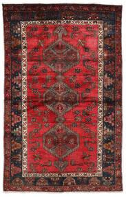 Hamadan Matta 127X202 Äkta Orientalisk Handknuten Mörkröd/Svart (Ull, Persien/Iran)