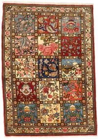 Bakhtiar Collectible Matta 111X158 Äkta Orientalisk Handknuten Mörkbrun/Brun (Ull, Persien/Iran)