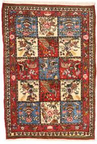 Bakhtiar Collectible Matta 102X152 Äkta Orientalisk Handknuten Mörkbrun/Beige (Ull, Persien/Iran)