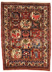 Bakhtiar Collectible Matta 107X143 Äkta Orientalisk Handknuten Mörkbrun/Mörkröd (Ull, Persien/Iran)
