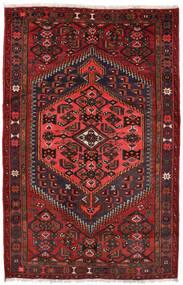 Zanjan Matta 127X198 Äkta Orientalisk Handknuten Mörkröd/Svart (Ull, Persien/Iran)