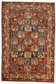 Bakhtiar Collectible Matta 209X304 Äkta Orientalisk Handknuten Mörkröd/Mörkgrå (Ull, Persien/Iran)