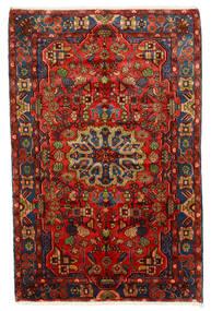 Nahavand Old Matta 150X235 Äkta Orientalisk Handknuten Mörkröd/Mörkbrun (Ull, Persien/Iran)