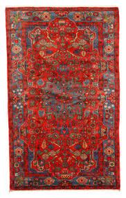 Nahavand Old Matta 152X245 Äkta Orientalisk Handknuten Mörkröd/Röd (Ull, Persien/Iran)