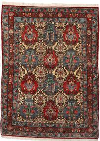 Bakhtiar Collectible Matta 108X148 Äkta Orientalisk Handknuten Mörkbrun/Mörkgrå (Ull, Persien/Iran)