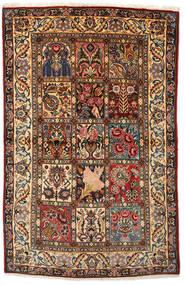 Bakhtiar Collectible Matta 108X170 Äkta Orientalisk Handknuten Mörkbrun/Mörkröd (Ull, Persien/Iran)