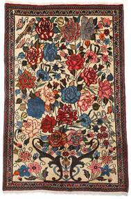 Bakhtiar Collectible Matta 100X154 Äkta Orientalisk Handknuten Mörkbrun/Beige (Ull, Persien/Iran)