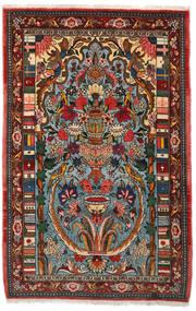 Bakhtiar Collectible Matta 103X158 Äkta Orientalisk Handknuten Mörkbrun/Mörk Turkos (Ull, Persien/Iran)