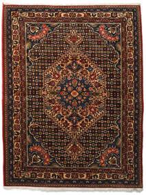 Bakhtiar Collectible Matta 113X144 Äkta Orientalisk Handknuten Mörkbrun/Mörkröd (Ull, Persien/Iran)