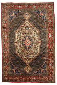Bakhtiar Collectible Matta 202X302 Äkta Orientalisk Handknuten Mörkbrun/Svart (Ull, Persien/Iran)