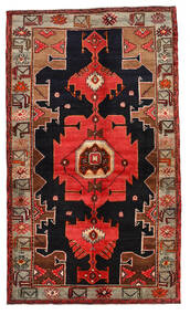 Nahavand Matta 138X236 Äkta Orientalisk Handknuten Mörkröd/Ljusbrun (Ull, Persien/Iran)