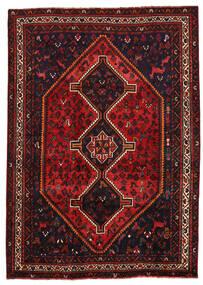 Shiraz Matta 205X288 Äkta Orientalisk Handknuten Mörkröd/Roströd (Ull, Persien/Iran)