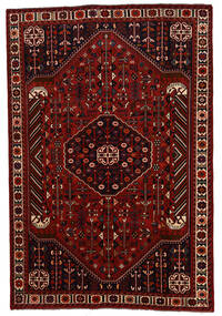 Shiraz Matta 202X300 Äkta Orientalisk Handknuten Mörkröd/Röd (Ull, Persien/Iran)