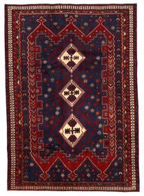 Afshar Matta 187X264 Äkta Orientalisk Handknuten Mörklila/Mörkröd (Ull, Persien/Iran)