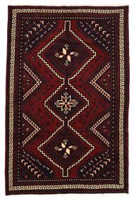 Lori Matta 158X248 Äkta Orientalisk Handknuten Mörkröd (Ull, Persien/Iran)
