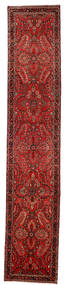 Lillian Matta 80X418 Äkta Orientalisk Handknuten Hallmatta Mörkröd/Mörkbrun/Roströd (Ull, Persien/Iran)