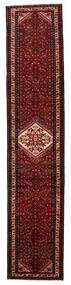 Hosseinabad Matta 81X412 Äkta Orientalisk Handknuten Hallmatta Mörkröd (Ull, Persien/Iran)