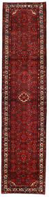 Hosseinabad Matta 90X385 Äkta Orientalisk Handknuten Hallmatta Mörkröd (Ull, Persien/Iran)