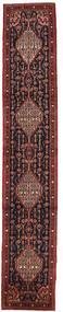 Senneh Matta 61X341 Äkta Orientalisk Handknuten Hallmatta Mörkröd/Brun (Ull, Persien/Iran)